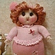 Человечки ручной работы. Ярмарка Мастеров - ручная работа. Купить Кукла толстушка Лидуня. Handmade. Розовый, куклы и игрушки