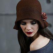 Аксессуары ручной работы. Ярмарка Мастеров - ручная работа Валяная шляпка «Blossom». Handmade.