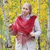 Аксессуары handmade. Livemaster - original item Neck scarf-gossamer openwork down