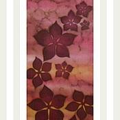 """Аксессуары ручной работы. Ярмарка Мастеров - ручная работа Мини-шарфик-батик """"В цветах заката"""". Handmade."""