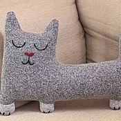 Элементы интерьера ручной работы. Ярмарка Мастеров - ручная работа Интерьерная мягкая игрушка Сонный кот. Handmade.
