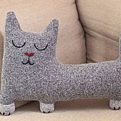 Для дома и интерьера handmade. Livemaster - original item Interior soft toy Sleepy cat. Handmade.