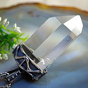 """Украшения ручной работы. Ярмарка Мастеров - ручная работа Кулон """"Магический кристалл""""-горный хрусталь, серебро. Handmade."""