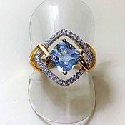 Rings handmade. Livemaster - original item Silver ring with natural Topaz