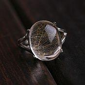 Украшения ручной работы. Ярмарка Мастеров - ручная работа Кольцо с природным Бразильским кристаллом из серебра. Handmade.