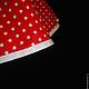 Блузки ручной работы. Рубашка с асимметричной баской красная в горошек. Евгения Панина-Крамская. Ярмарка Мастеров. Весна, в горошек