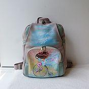Сумки и аксессуары handmade. Livemaster - original item Leather backpack with custom painting.. Handmade.