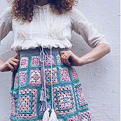 """Одежда ручной работы. Ярмарка Мастеров - ручная работа Хлопковая юбка крючком """"Весна в калейдоскопе"""". Handmade."""