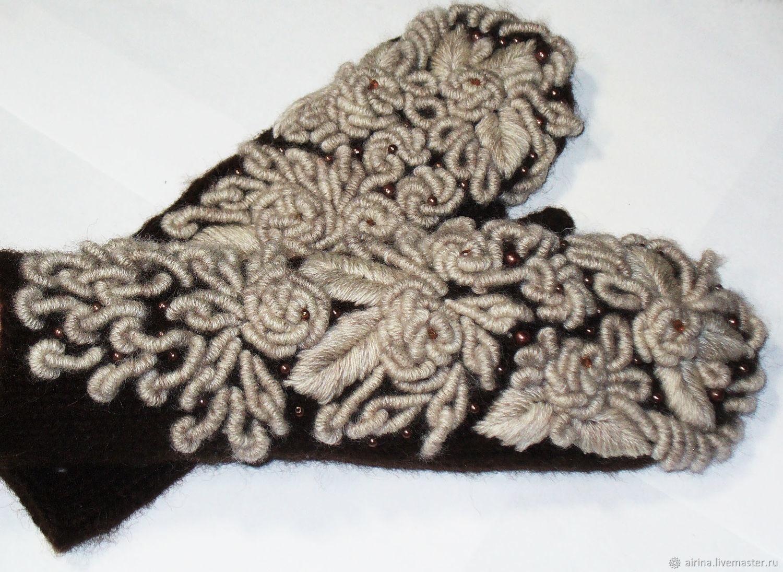Варежки с вышивкой №222, Варежки, Липецк, Фото №1
