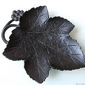 Винтаж handmade. Livemaster - original item Antique XIX Century Ashtray Vintage Cast Iron Leaf Casting. Handmade.