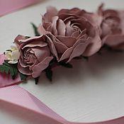 """Свадебный салон ручной работы. Ярмарка Мастеров - ручная работа Пояс с цветами """"Pinky Winky"""". Handmade."""