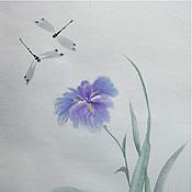 Картины и панно ручной работы. Ярмарка Мастеров - ручная работа Ирис и стрекозы. Handmade.