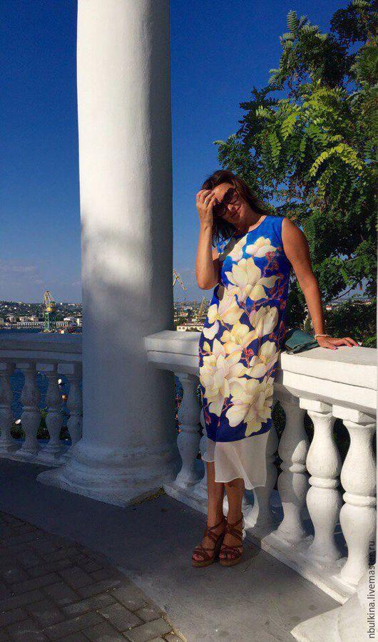 """Платья ручной работы. Ярмарка Мастеров - ручная работа. Купить Платье """" В стране магнолий"""". Handmade. Комбинированный"""