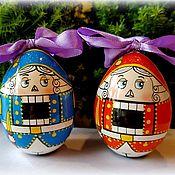 Русский стиль ручной работы. Ярмарка Мастеров - ручная работа Щелкунчик(яйцо и магнит). Handmade.