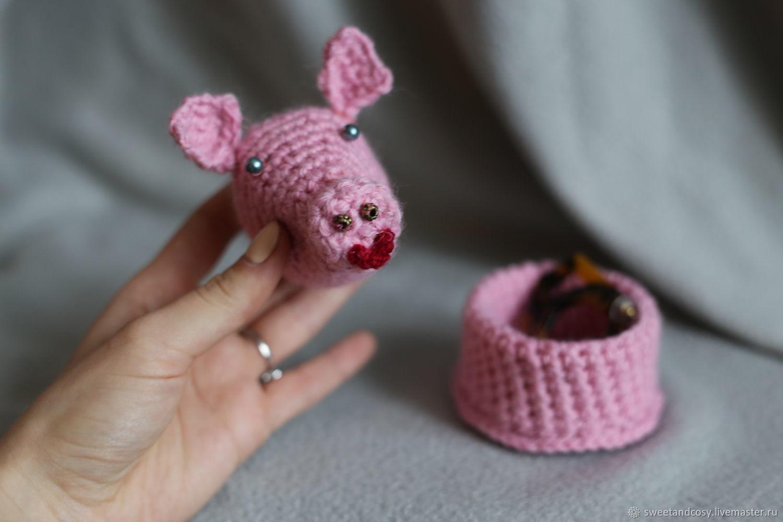 вязаная шкатулка свинка пеппа купить в интернет магазине на
