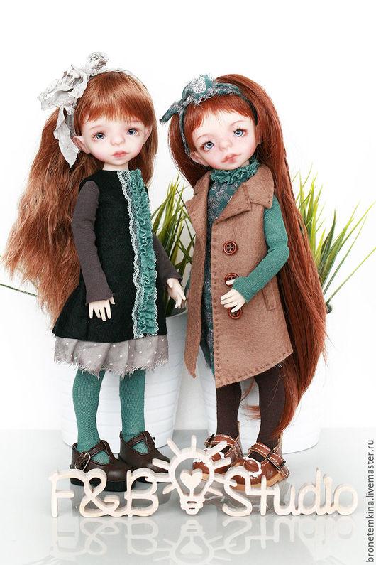 Коллекционные куклы ручной работы. Ярмарка Мастеров - ручная работа. Купить БЖД кукла Фокси 28 см. Handmade. Бежевый