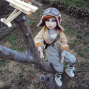 Куклы и игрушки handmade. Livemaster - original item Interior doll pilot. Flights in dreams and in reality.dolls. Handmade.