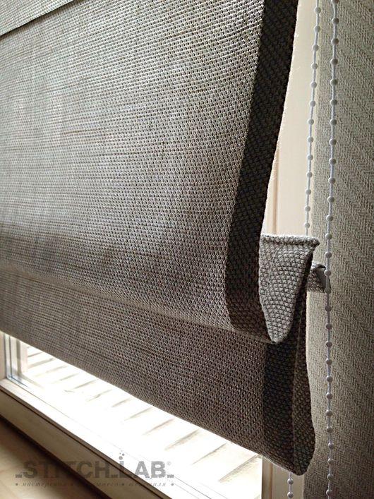 Текстиль, ковры ручной работы. Ярмарка Мастеров - ручная работа. Купить Римская штора в кабинет. Handmade. Пошив на заказ, подарок