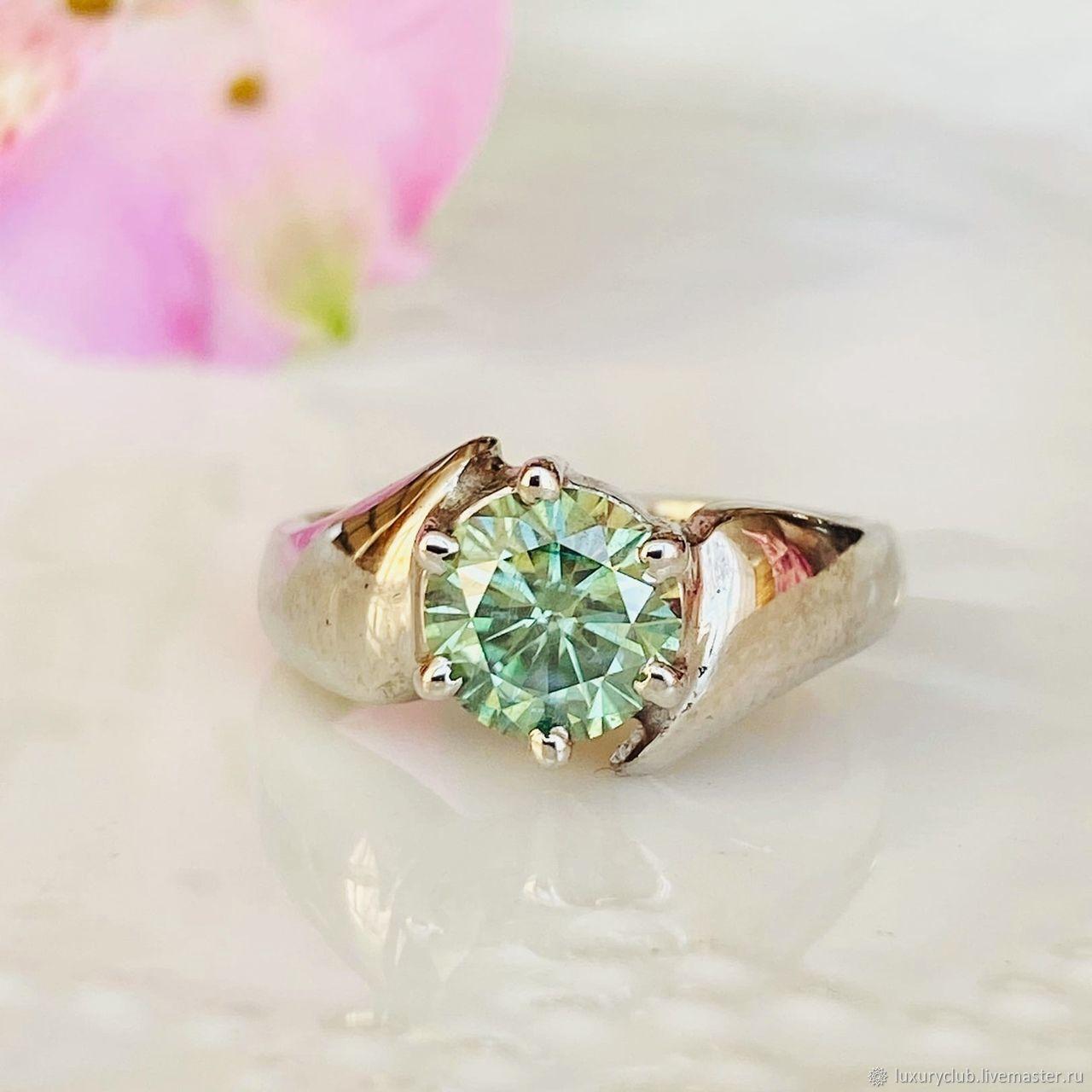 18P diamond Ring 'Mint stars' buy, Rings, Tolyatti,  Фото №1