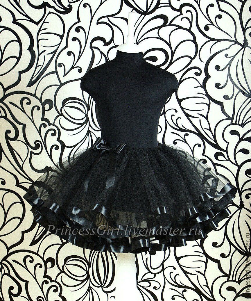 A skirt with ribbons (black), Skirts, Moscow,  Фото №1