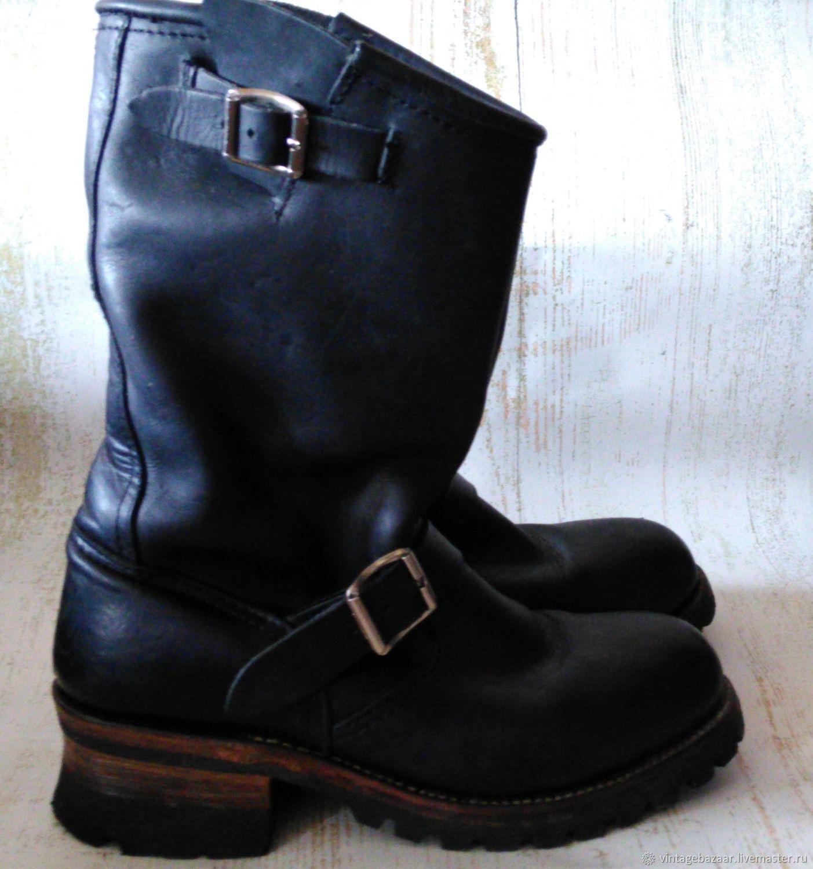 aebe554d0 Винтажная обувь. Ярмарка Мастеров - ручная работа. Купить Винтаж: Ботинки  из толстой кожи ...