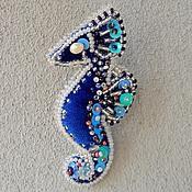 """Украшения ручной работы. Ярмарка Мастеров - ручная работа Брошь """"Seahorse"""". Handmade."""