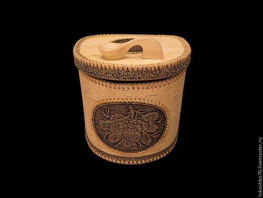 """Кухня ручной работы. Ярмарка Мастеров - ручная работа. Купить Короб из бересты """"Шишки"""". Короб из дерева. Handmade. Хлеб"""
