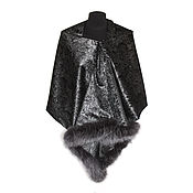 Аксессуары handmade. Livemaster - original item Shawl stole with fur. Handmade.