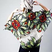 Одежда ручной работы. Ярмарка Мастеров - ручная работа Кардиган изо льна и шерсти МАКИ. Handmade.