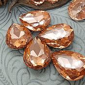 Материалы для творчества handmade. Livemaster - original item Rhinestones Drop Faceted 25x18mm Glass