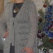 Одежда handmade. Livemaster - original item Cardigan knitted Openwork. Handmade.