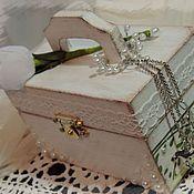 Свадебный салон ручной работы. Ярмарка Мастеров - ручная работа Сундучок - коробочка для колец для тюльпановой свадьбы. Handmade.