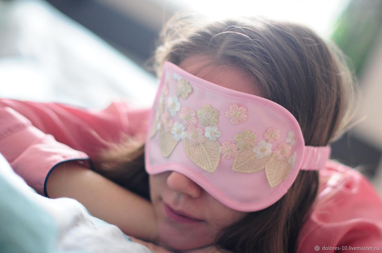 Sleep mask 'Pink dreams', Sleep masks, Moscow,  Фото №1