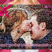 Фоторамки ручной работы. Ярмарка Мастеров - ручная работа Фотомозаика. Подарок на свадьбу, годовщину.. Handmade.