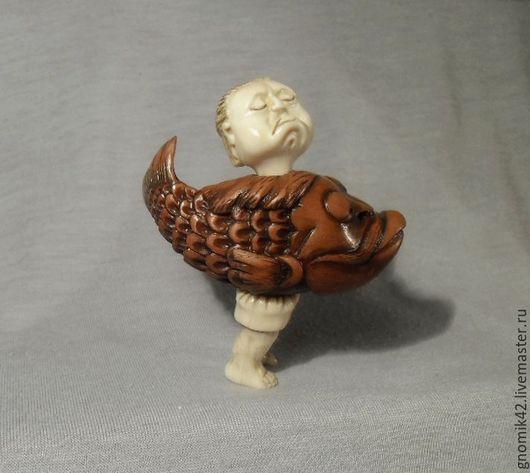 Миниатюрные модели ручной работы. Ярмарка Мастеров - ручная работа. Купить Человек амфибия. Handmade. Белый