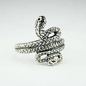 Украшения handmade. Livemaster - original item 925 sterling silver Snake ring. Handmade.