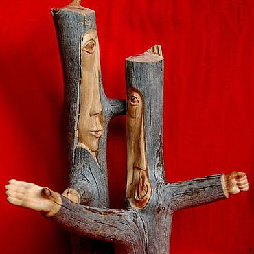 """Для дома и интерьера ручной работы. Ярмарка Мастеров - ручная работа """"Дискуссия"""" (композиция из дерева). Handmade."""