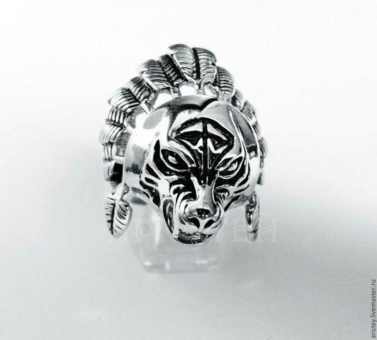 """Кольца ручной работы. Ярмарка Мастеров - ручная работа. Купить Перстень """"Тигр-индеец"""". Handmade. Серебряный, символы"""