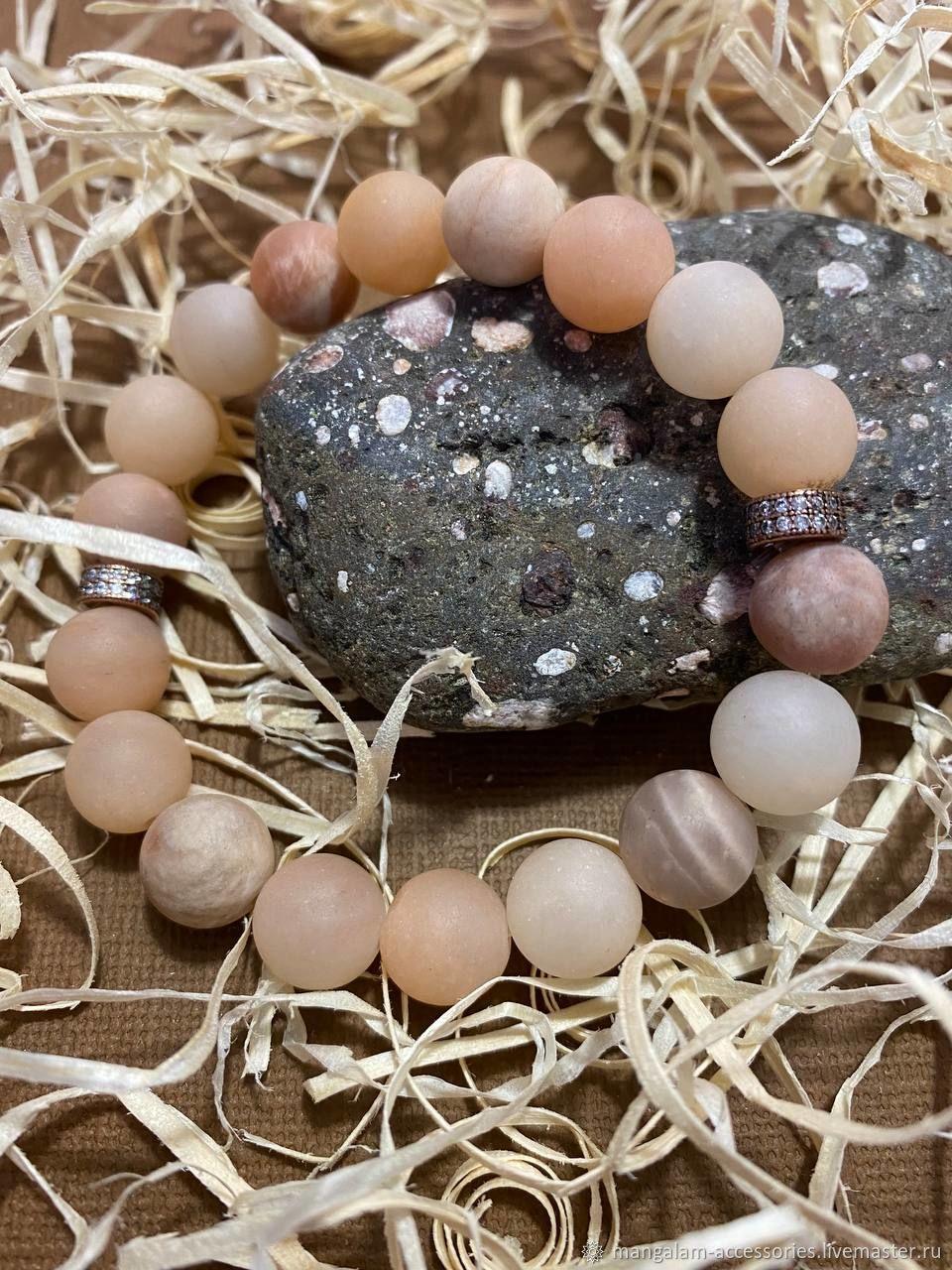Браслет из натуральных камней   Солнечный камень, Браслет из бусин, Великий Новгород,  Фото №1