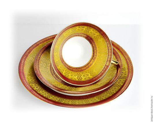 Винтажная посуда. Ярмарка Мастеров - ручная работа. Купить Чайное трио. Германия. Handmade. Антиквариат, раритет, чашка для чая