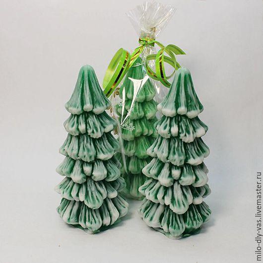 Мыло Елочка 3D, новогоднее хвойное мыло, сувенирное мыло ручной работы