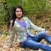 """Одежда ручной работы. Ярмарка Мастеров - ручная работа Жакет """"Сентябрь"""", ирландское кружево. Handmade."""