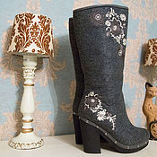 """Обувь ручной работы. Ярмарка Мастеров - ручная работа Валенки """"Казачки"""". Handmade."""