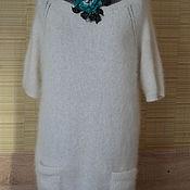 """Одежда ручной работы. Ярмарка Мастеров - ручная работа Платье-туника """"Снежный вальс"""". Handmade."""