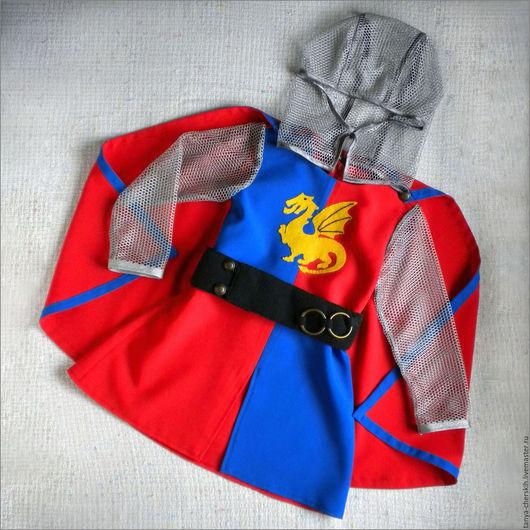 Детские карнавальные костюмы ручной работы. Ярмарка Мастеров - ручная работа. Купить Рыцарь костюм новогодний детский, дракон и кольчуга. Handmade.