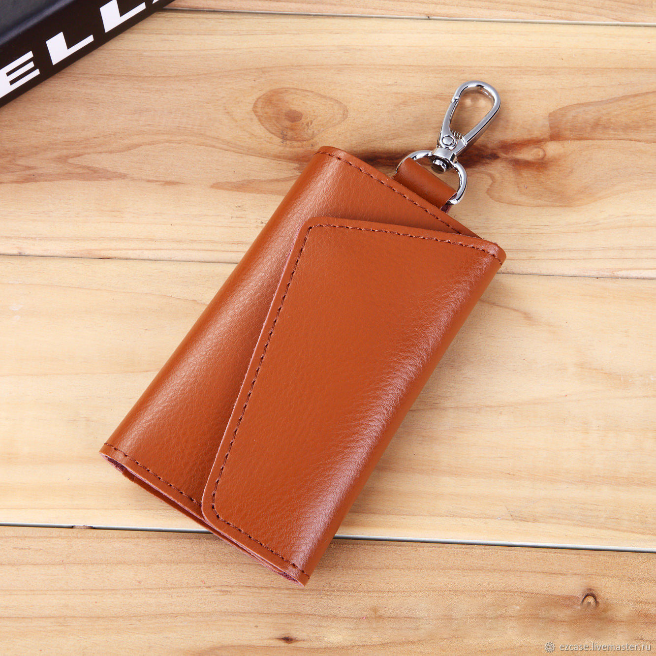 Wallets & Business Card Holders handmade. Livemaster - handmade. Buy Buy key holder in Moscow and St. Petersburg leather key Niobea (sand).