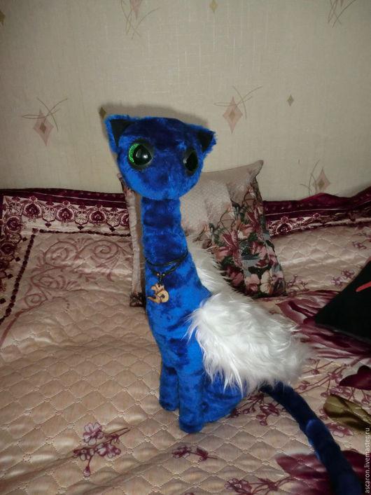 Игрушки животные, ручной работы. Ярмарка Мастеров - ручная работа. Купить Лунная кошка. Handmade. Тёмно-синий, мягкая игрушка