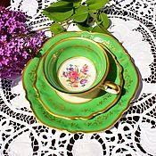 Винтаж handmade. Livemaster - original item Rosenthal,Viktoria.(1938-1949) Amazing tea trio.. Handmade.