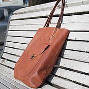 Сумки и аксессуары ручной работы. Ярмарка Мастеров - ручная работа коричневая кожаная сумка женская. Handmade.