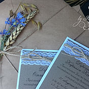 Свадебный салон handmade. Livemaster - original item Wedding invitations rustic. Handmade.